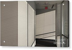 Hallway Of An Office Building Acrylic Print by Will & Deni McIntyre
