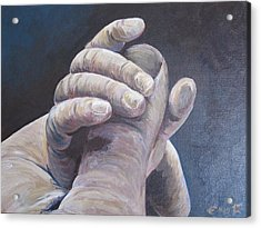 Hand In Hand Acrylic Print by Ema Dolinar Lovsin