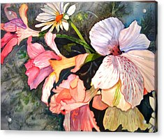 Acrylic Print featuring the painting Happy Mother's Day by AnnE Dentler