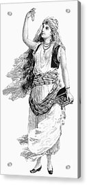 Harem Woman. 19th Century Acrylic Print by Granger