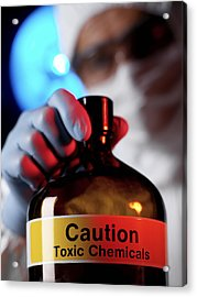 Hazardous Chemical Acrylic Print by Tek Image