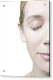 Healthy Woman's Face Acrylic Print by
