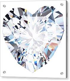 Heart Diamond  Acrylic Print by Setsiri Silapasuwanchai