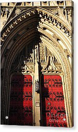 Heinz Chapel Doors Acrylic Print by Thomas R Fletcher