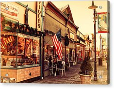 Historic Niles District In California Near Fremont . Main Street . Niles Boulevard . 7d10701 Acrylic Print by Wingsdomain Art and Photography