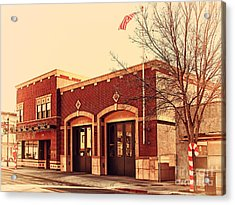 Historic Niles District In California Near Fremont . Niles Fire Station Number 2 . 7d10732 Acrylic Print by Wingsdomain Art and Photography