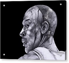 Homage To Jordan Acrylic Print