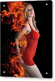 Hot Model Acrylic Print