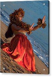 Hula Girl Acrylic Print by James Roemmling