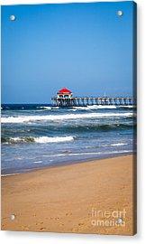 Huntington Beach Pier In Orange County California Acrylic Print by Paul Velgos