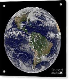 Hurricane Sandy Along The East Coast Acrylic Print by Stocktrek Images