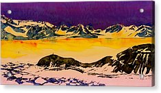 Hut Point Antarctica Acrylic Print by Carolyn Doe