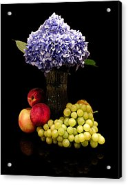 Hydrangea And Fruit Acrylic Print by Sandi OReilly