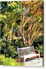 I Waited For You Today Acrylic Print by Angelina Vick