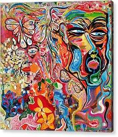 Id Ego Super Ego Acrylic Print by Michael Henzel