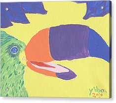 If One Can Toucan Acrylic Print by Yshua The Painter