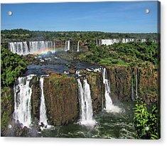 Iguazu Falls Acrylic Print by David Gleeson
