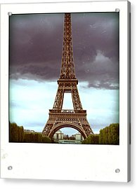 Illustration Of Eiffel Tower Acrylic Print by Bernard Jaubert