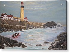 Acrylic Print featuring the painting In Search Of Portland Maine - Mary Krupa by Bernadette Krupa