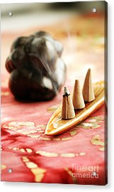 Incense Acrylic Print by HD Connelly