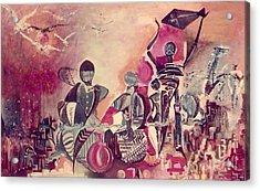 Indian Festival Acrylic Print by Satyajit Roy ArtDecor