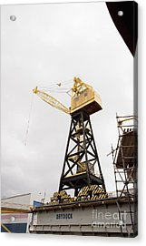 Industrial Crane Acrylic Print by Shannon Fagan