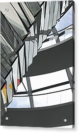 Inside Of The Glass Dome Of Reichstag  Acrylic Print by Igor Sinitsyn