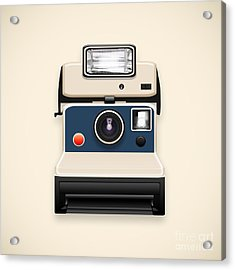 Instant Camera With A Blank Photo Acrylic Print by Setsiri Silapasuwanchai