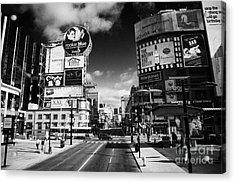 Intersection Of Yonge And Dundas At Yonge-dundas Square Toronto Ontario Canada Acrylic Print by Joe Fox
