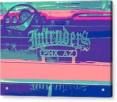 Intruders Car Club Acrylic Print by Chuck Re