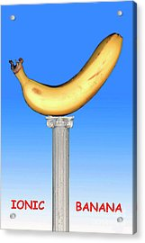 Acrylic Print featuring the mixed media Ionic Banana by Bill Thomson