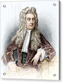 Isaac Newton, English Physicist Acrylic Print by Sheila Terry