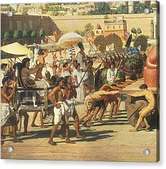 Israel In Egypt Acrylic Print by Sir Edward John Poynter