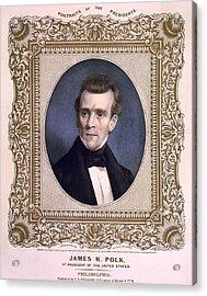 James Polk 1795-1849 President Acrylic Print by Everett