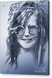 Janis Joplin Acrylic Print by Robbi  Musser