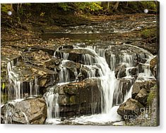 Java Falls In Autumn Acrylic Print by Darleen Stry