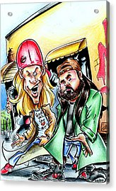 Jay And Silent Bob Acrylic Print by Big Mike Roate