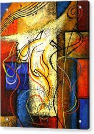 Jazz-funk Acrylic Print by Leon Zernitsky
