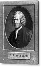 Jean-jacques Rousseau, Swiss Philosopher Acrylic Print by Photo Researchers