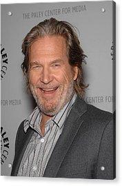 Jeff Bridges In Attendance For American Acrylic Print by Everett
