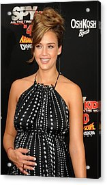 Jessica Alba At Arrivals For World Acrylic Print