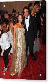 Jessica Alba Wearing Ralph Lauren Acrylic Print