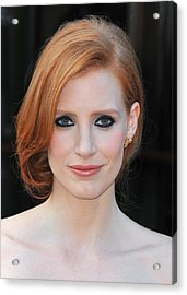 Jessica Chastain At Arrivals For The Acrylic Print by Everett