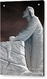 Jesus Kneeling - Religious Christian Art Acrylic Print by Kathy Fornal