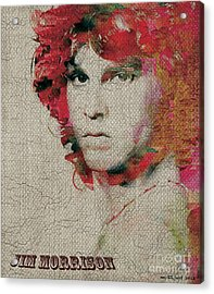 Jim Morrison Acrylic Print by Max Cooper