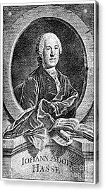 Johann Adolf Hasse Acrylic Print by Granger