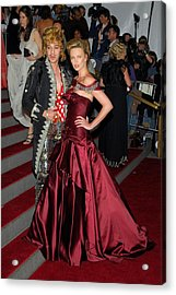 John Galliano, Charlize Theron Wearing Acrylic Print by Everett