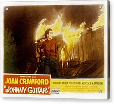 Johnny Guitar, Joan Crawford, Sterling Acrylic Print by Everett