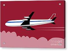 Jumbo Jet Plane Retro Acrylic Print by Aloysius Patrimonio