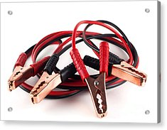 Jumper Cables Acrylic Print by Blink Images